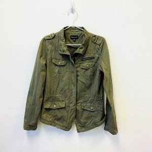 New Look Military Syle Army Green Jacket Sz M